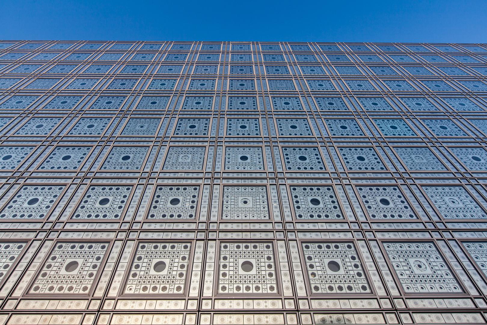Facade Institut du Monde Arabe Paris FRA