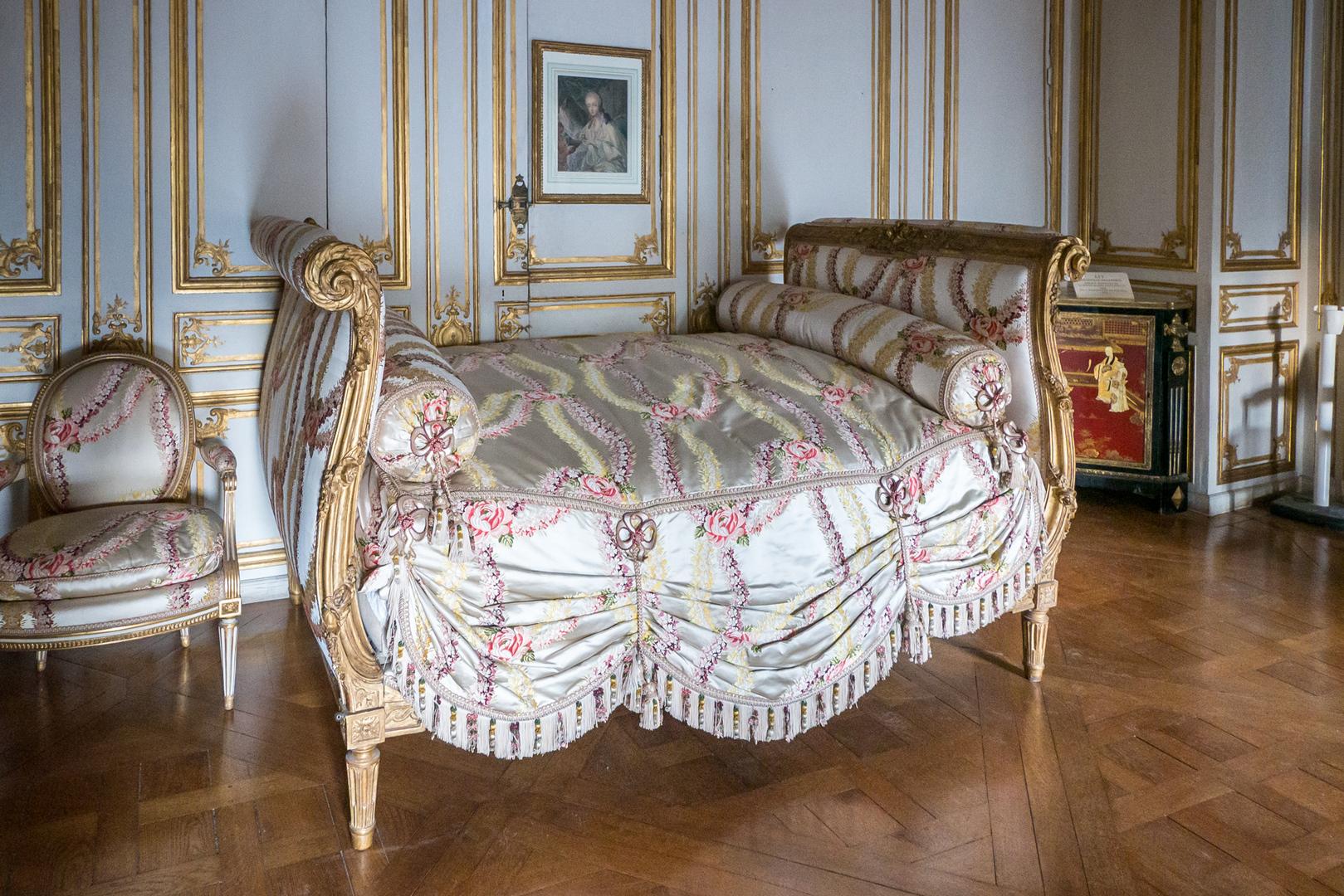 Bett von Marie-Antoinette Schloss Versailles FRA