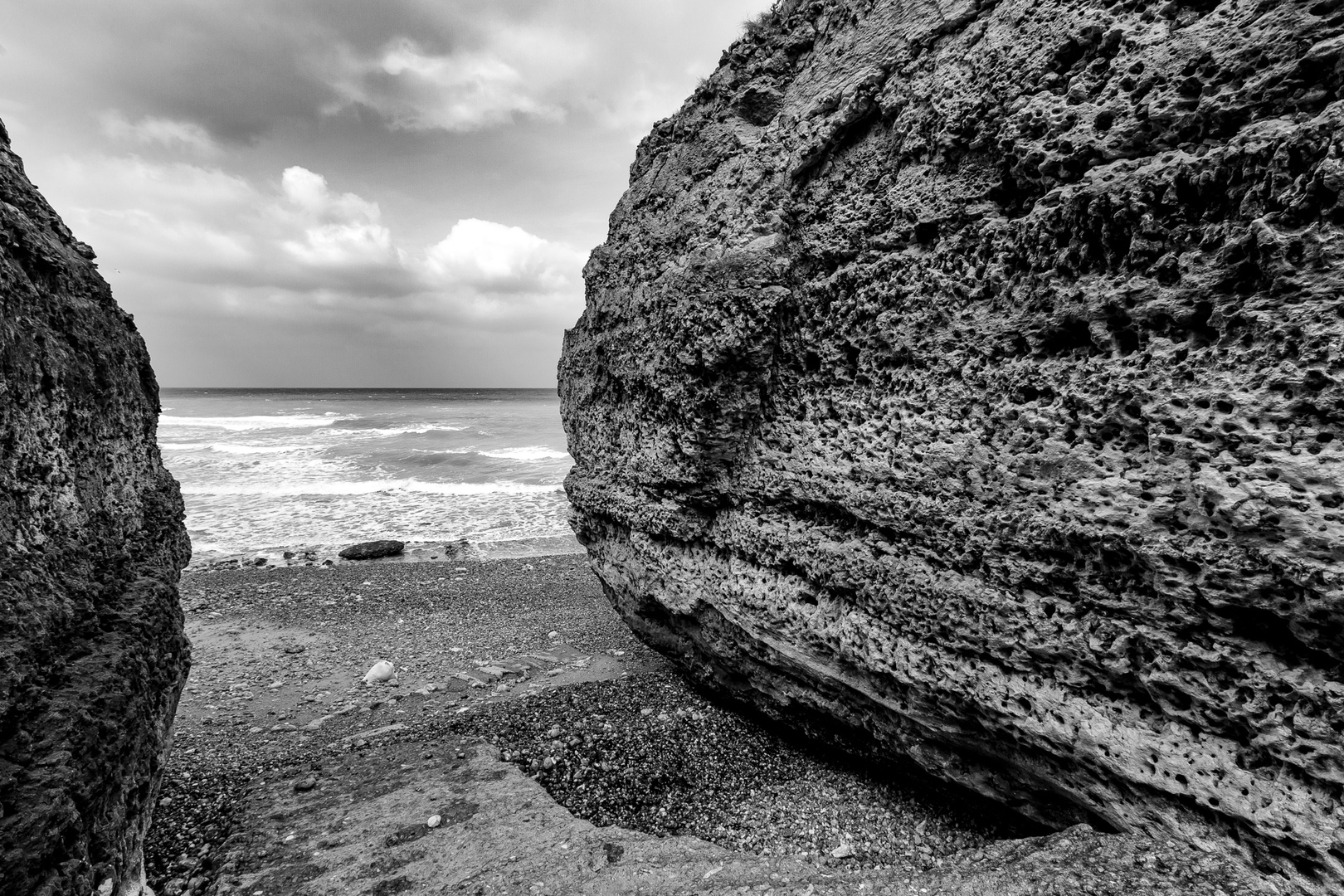 Strandzugang Vattetot-sur-mer Normandie FRA