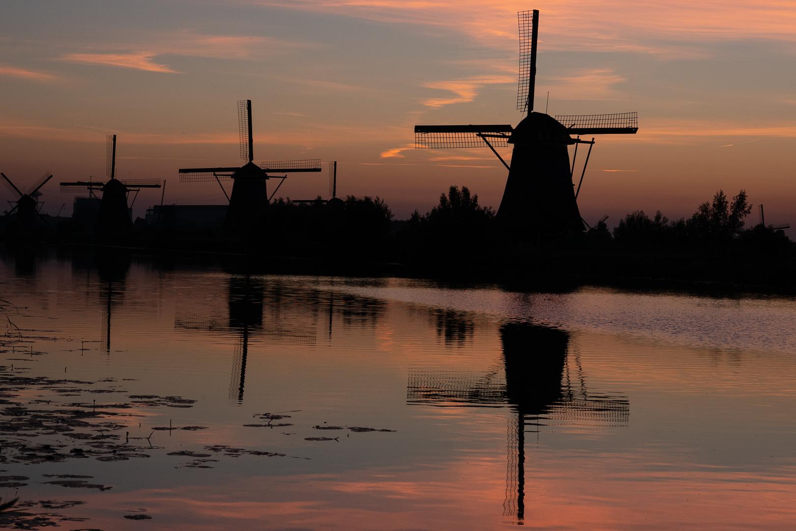 Mühlen 6, 7 und 8 Kinderdijk NL
