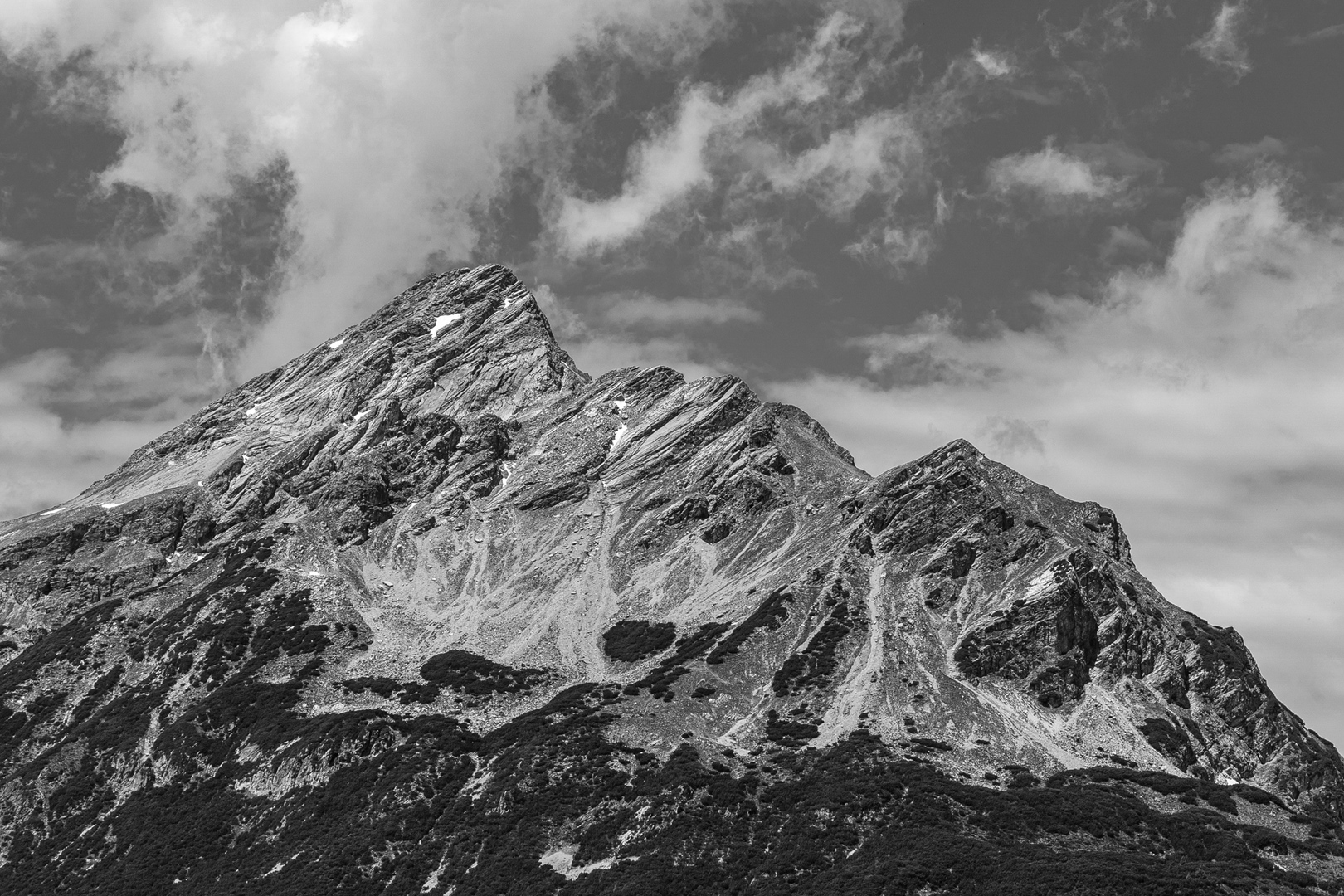 Blick auf die Klimmspitze 2465m Lechtal AUT